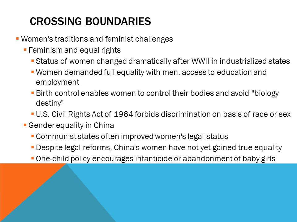 Crossing boundaries Women s traditions and feminist challenges