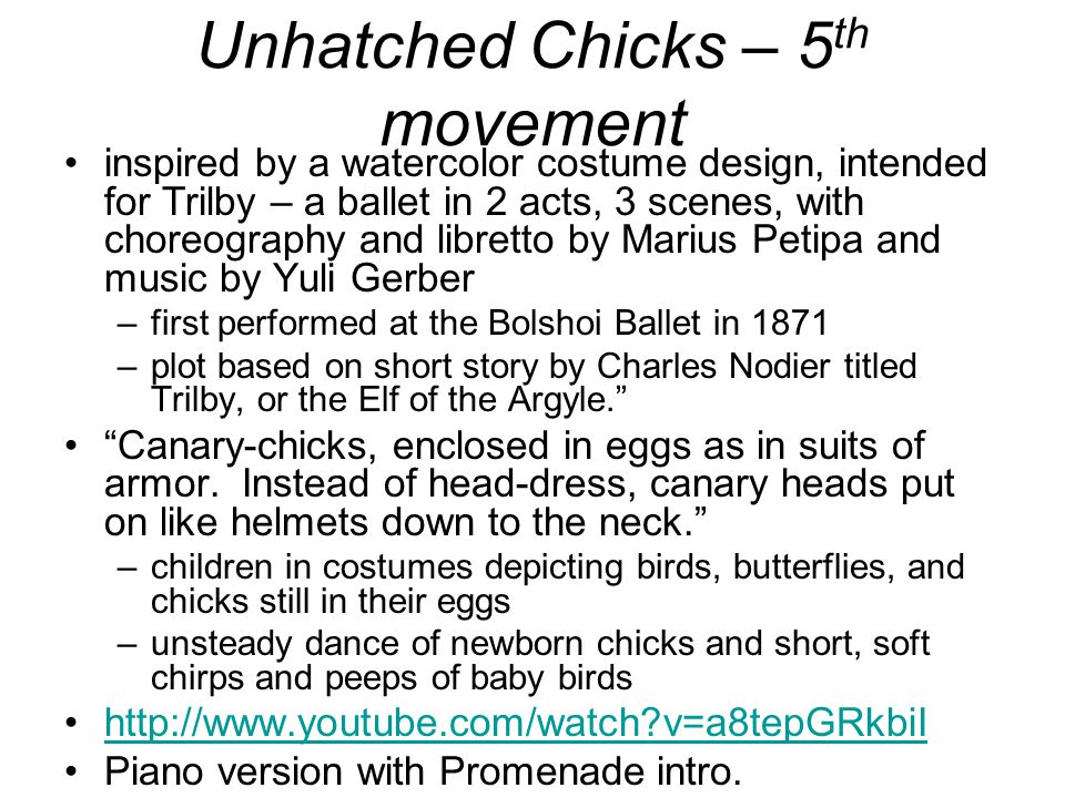 Unhatched Chicks – 5th movement