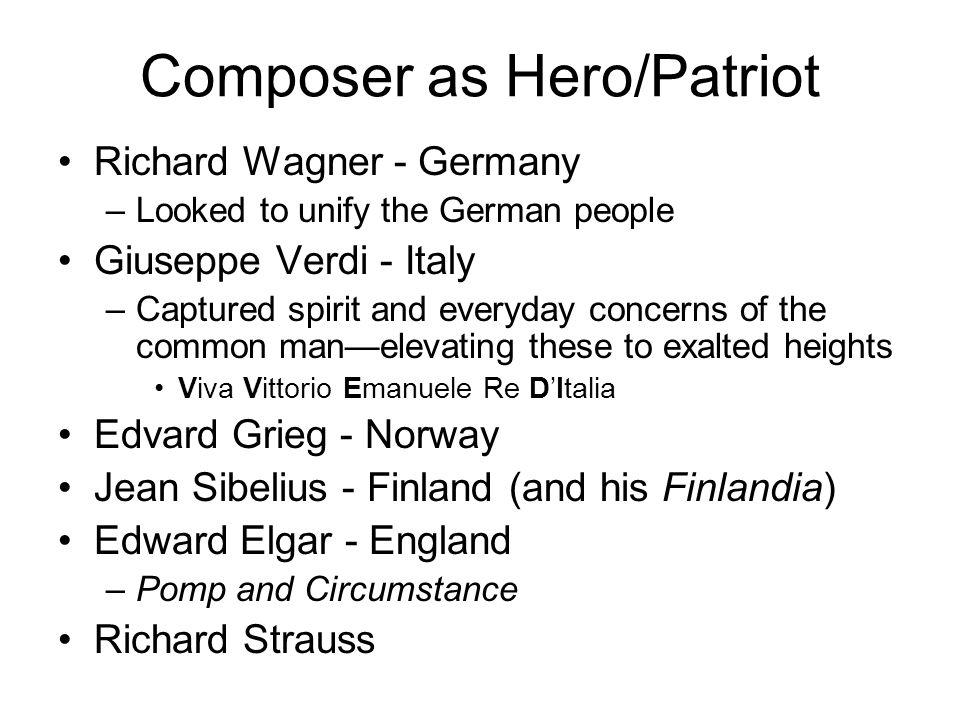 Composer as Hero/Patriot