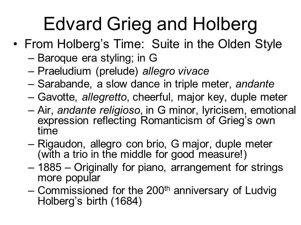 Edvard Grieg and Holberg
