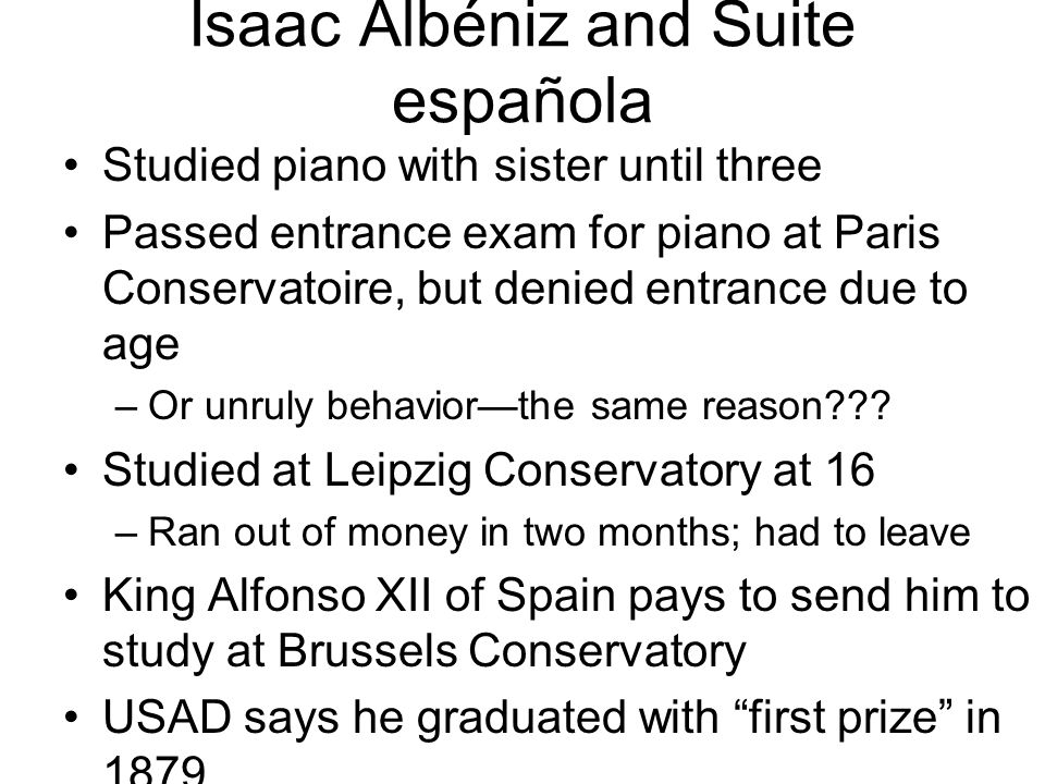 Isaac Albéniz and Suite española