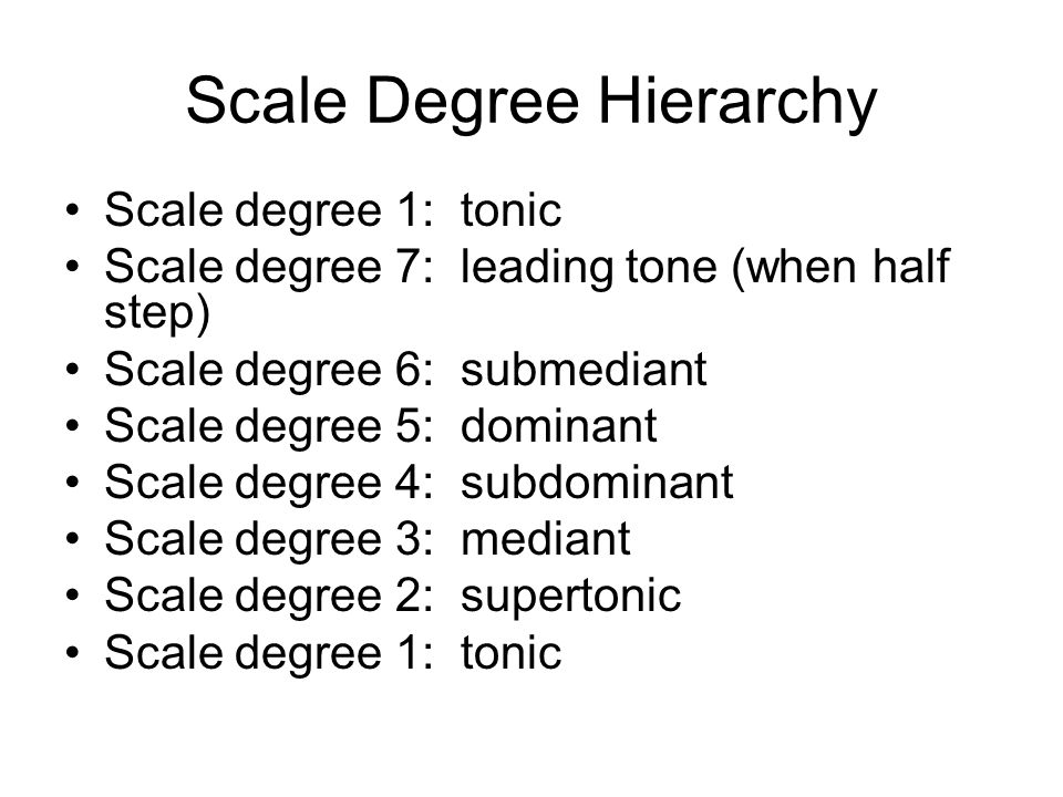Scale Degree Hierarchy