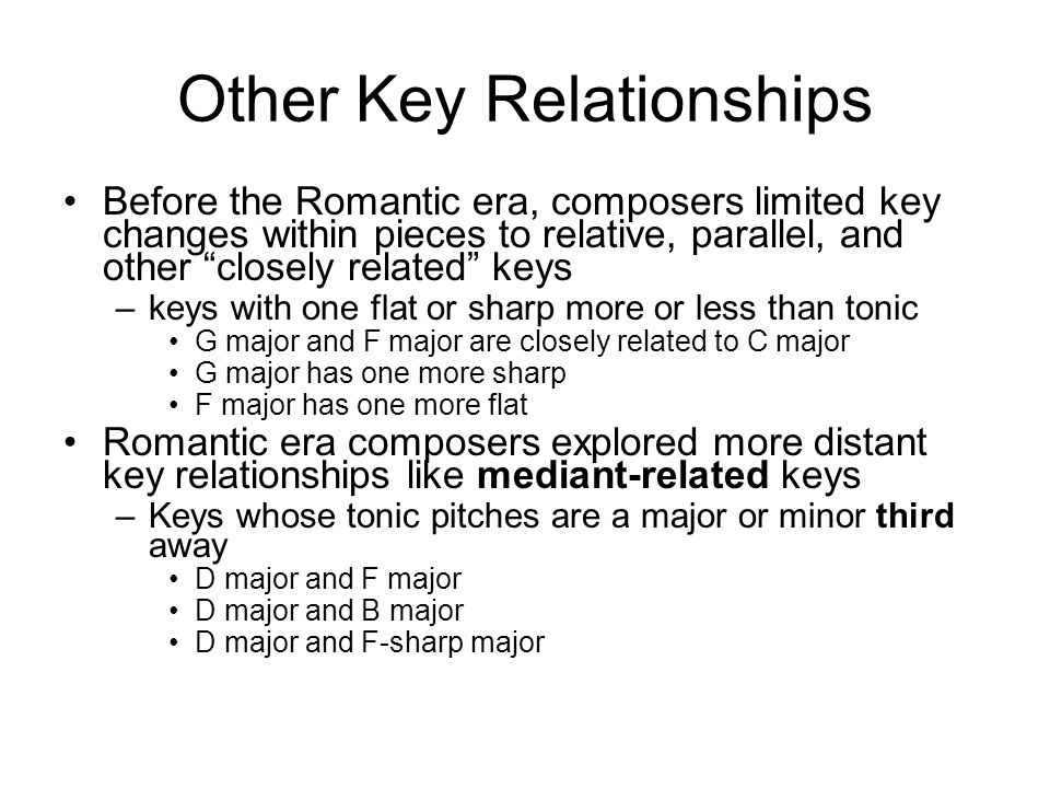 Other Key Relationships