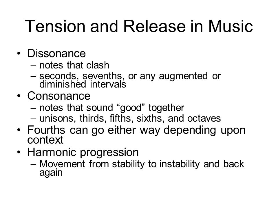 Tension and Release in Music