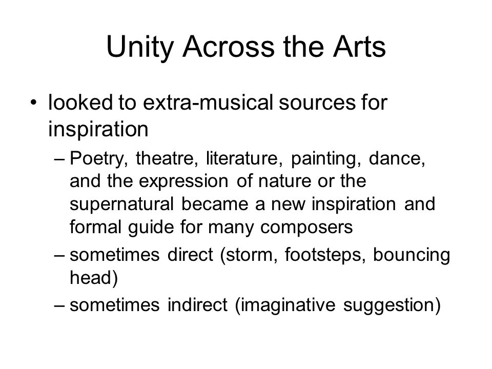 Unity Across the Arts looked to extra-musical sources for inspiration