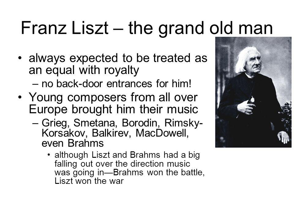 Franz Liszt – the grand old man