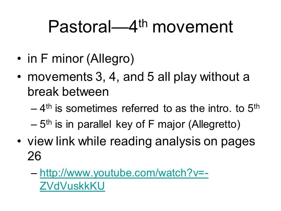 Pastoral—4th movement in F minor (Allegro)