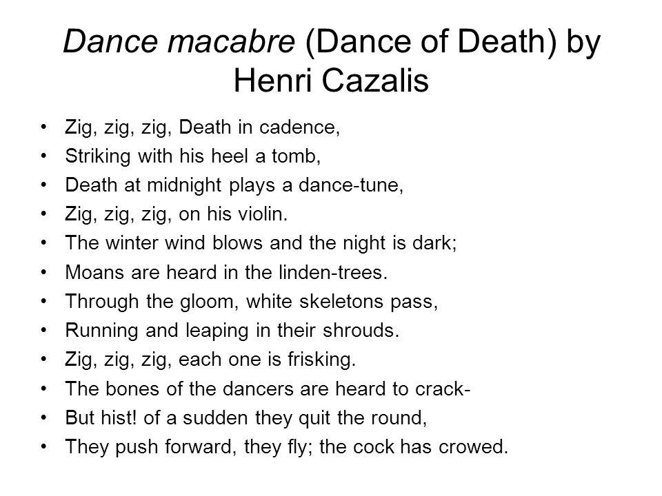 Dance macabre (Dance of Death) by Henri Cazalis