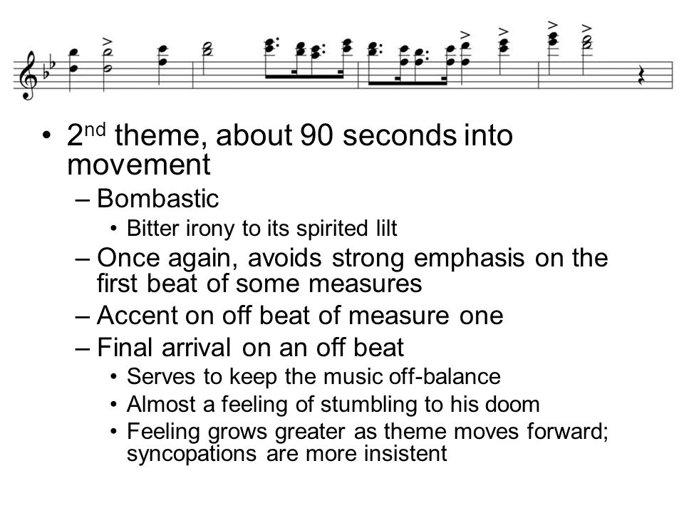 2nd theme, about 90 seconds into movement