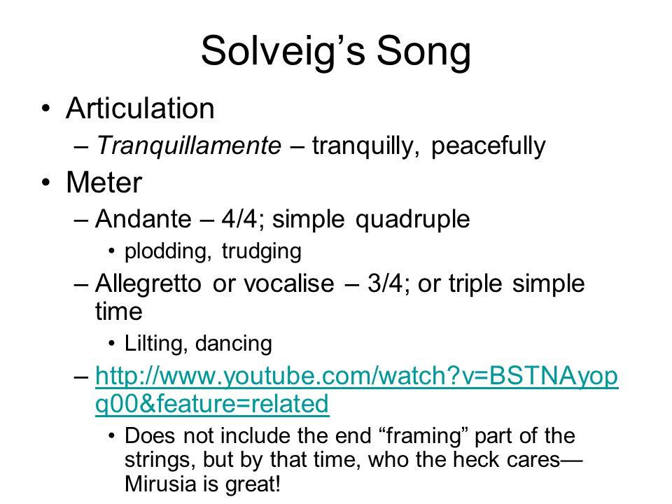 Solveig's Song Articulation Meter