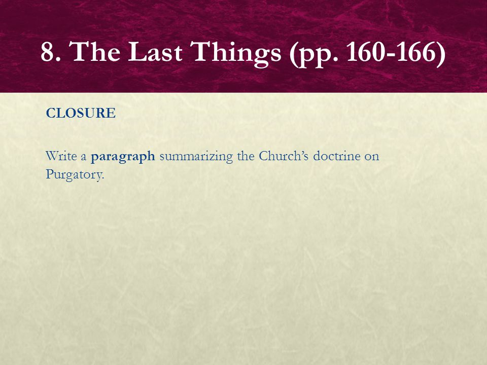 8. The Last Things (pp.