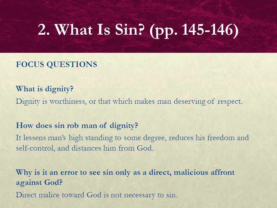 2. What Is Sin (pp. 145-146)
