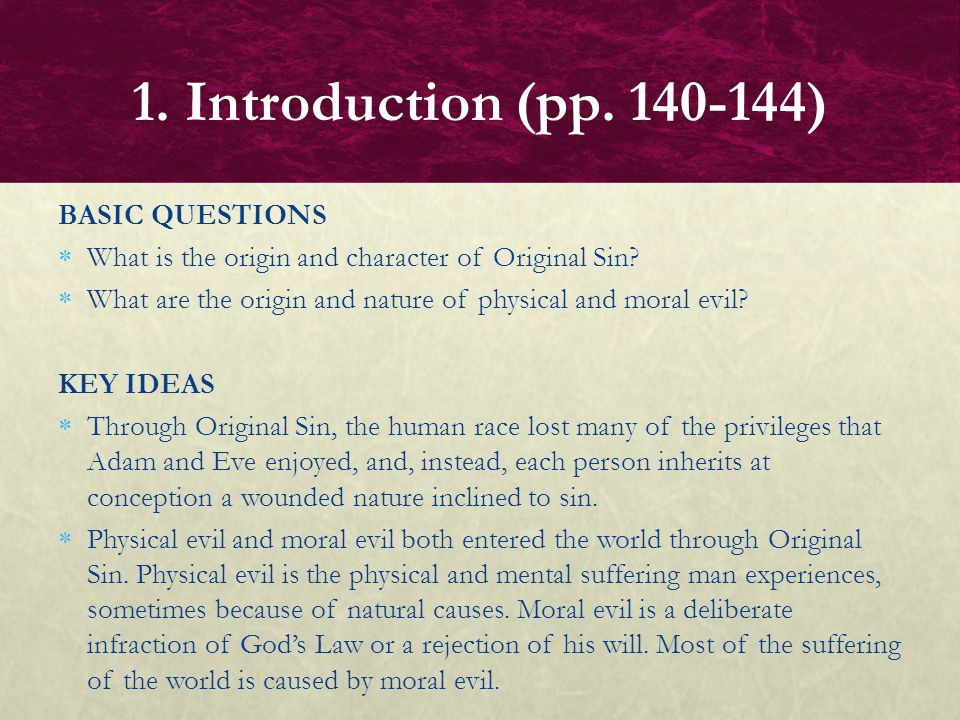 1. Introduction (pp. 140-144) BASIC QUESTIONS