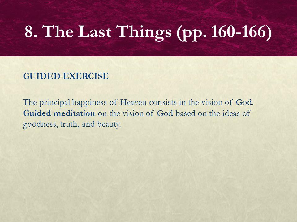 8. The Last Things (pp. 160-166)