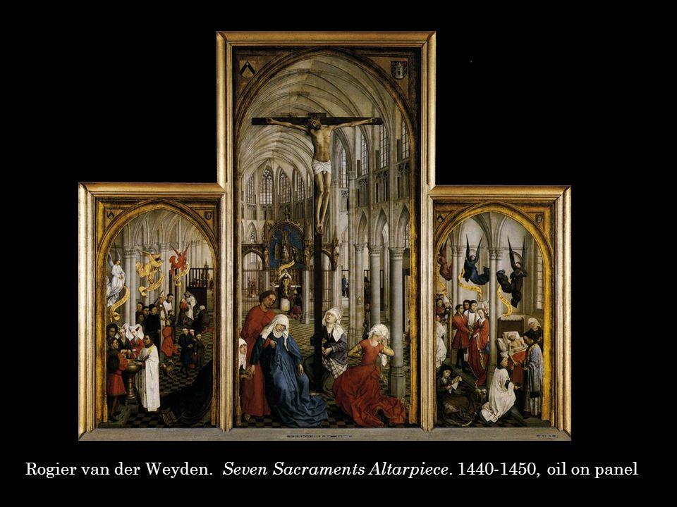 Rogier van der Weyden. Seven Sacraments Altarpiece