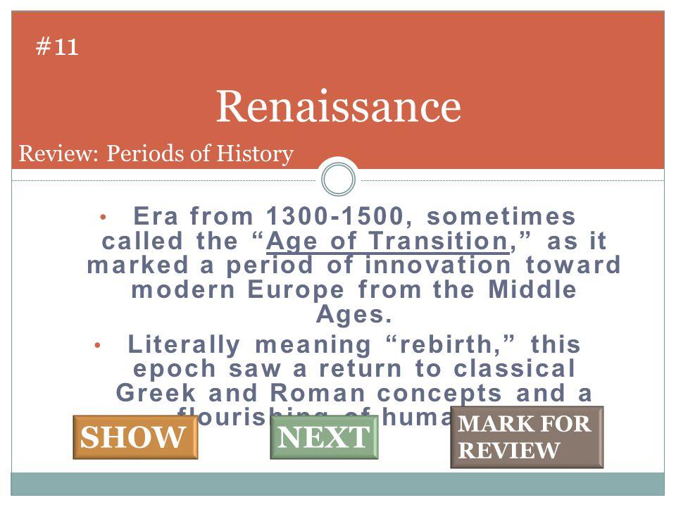 Leonardo da Vinci #12 SHOW NEXT Review: Italian Renaissance