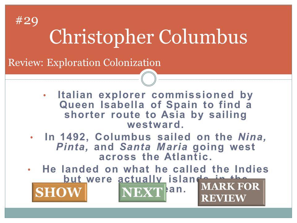 Bartholomeu Dias #30 SHOW NEXT Review: Exploration Colonization