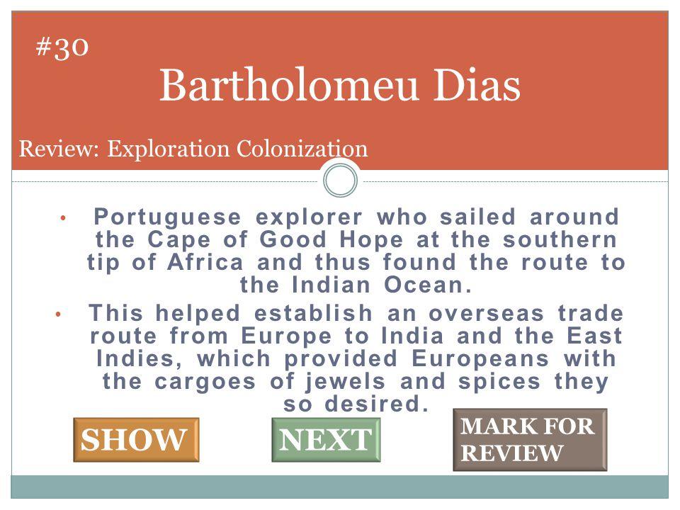 Middle Passage #31 SHOW NEXT Review: Exploration Colonization