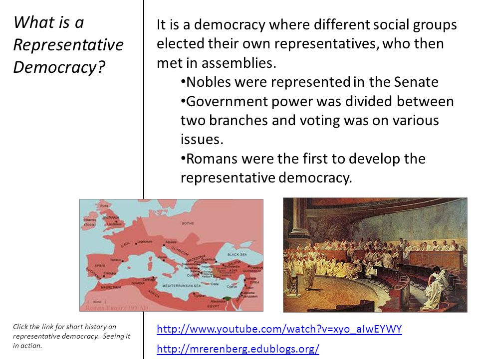 What is a Representative Democracy