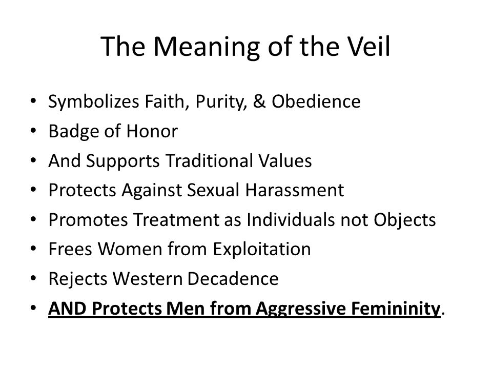 The Meaning of the Veil Symbolizes Faith, Purity, & Obedience