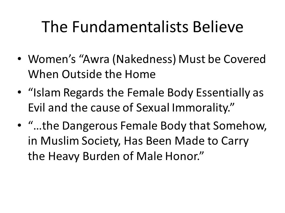 The Fundamentalists Believe