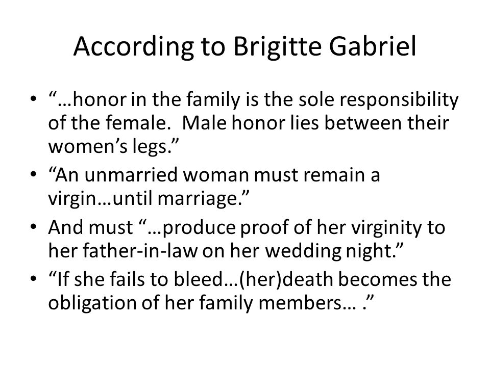 According to Brigitte Gabriel