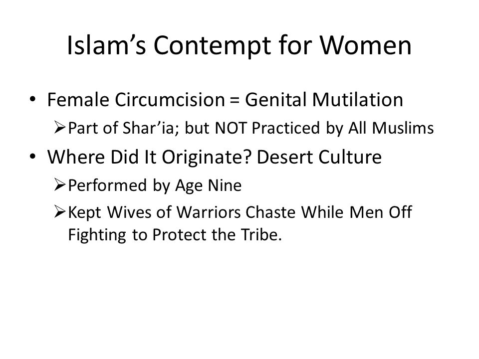 Islam's Contempt for Women