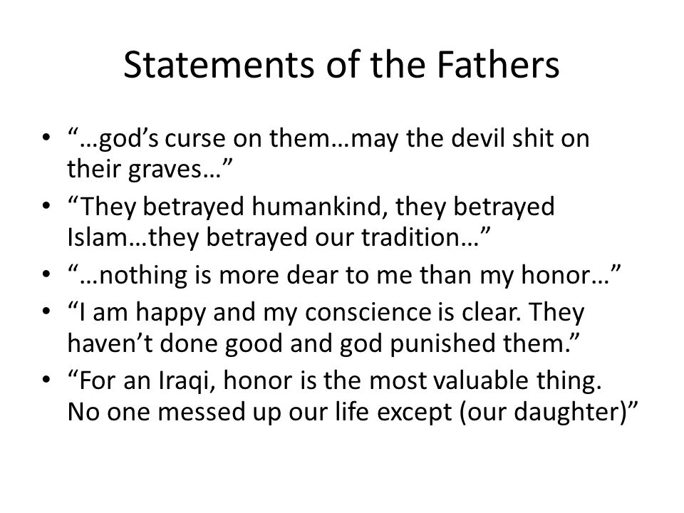 Statements of the Fathers
