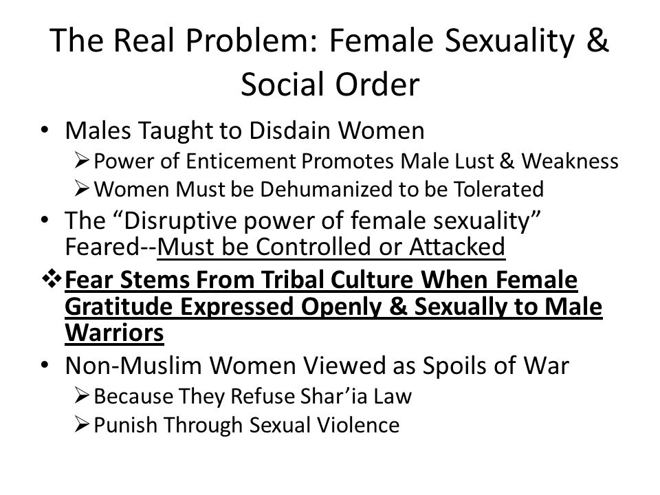 The Real Problem: Female Sexuality & Social Order