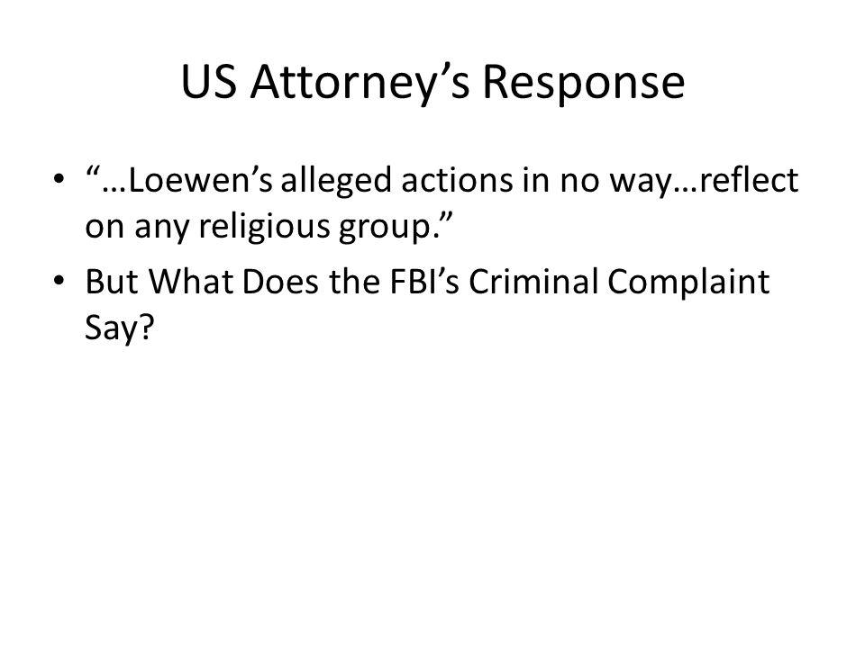 US Attorney's Response
