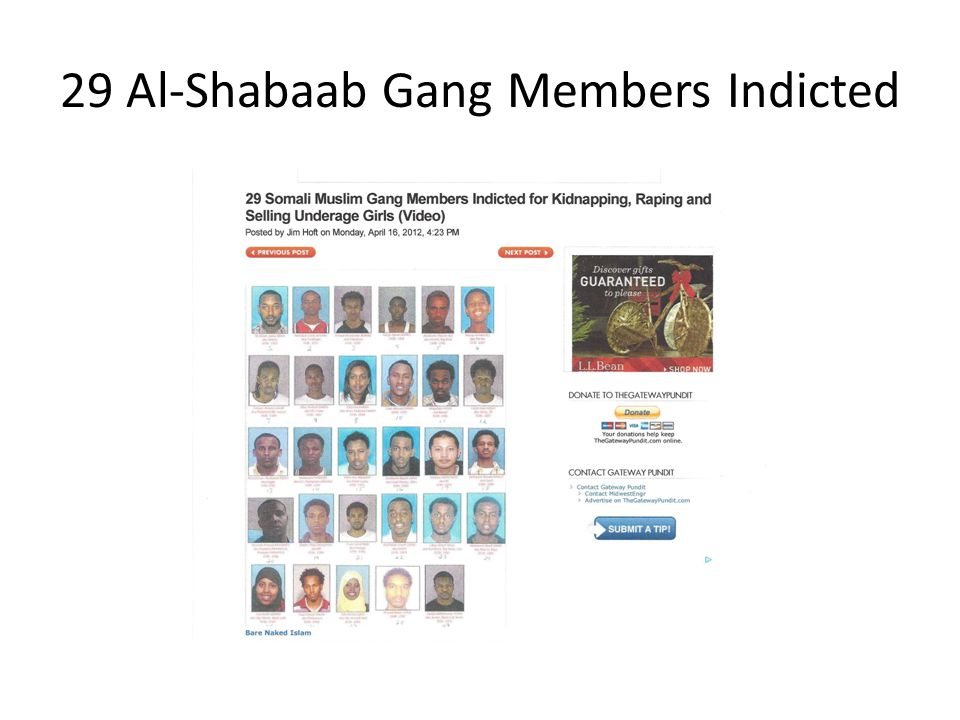 29 Al-Shabaab Gang Members Indicted