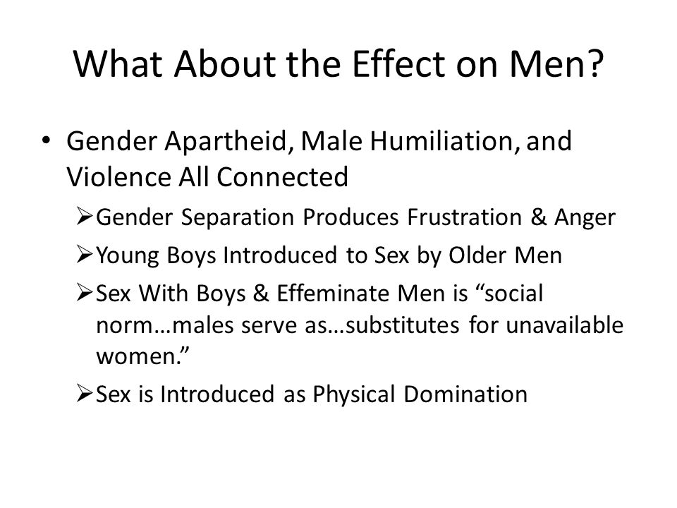 What About the Effect on Men