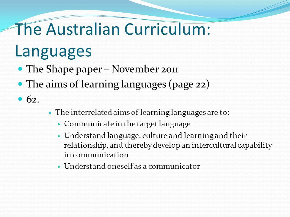 The Australian Curriculum: Languages