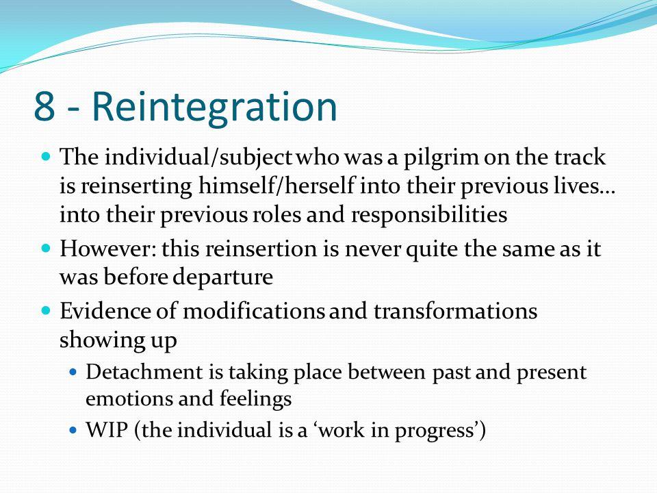 8 - Reintegration