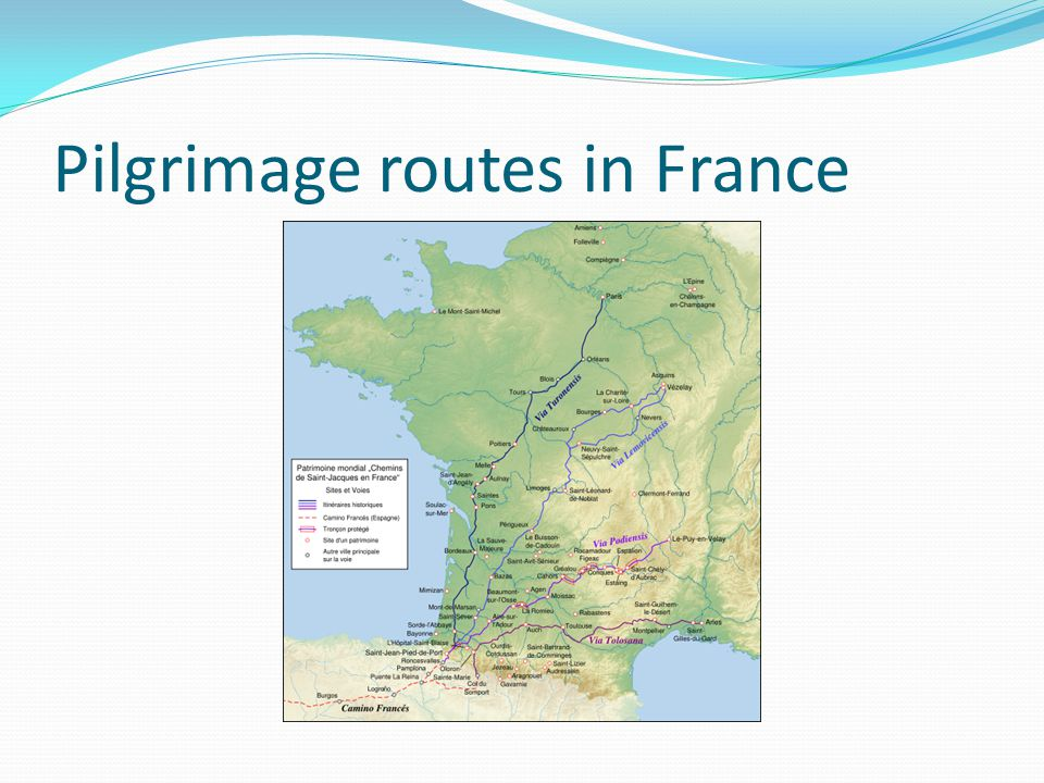 Pilgrimage routes in France