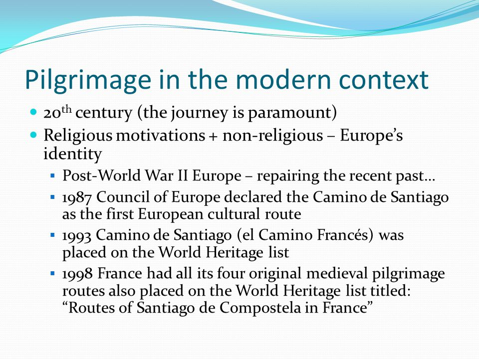Pilgrimage in the modern context