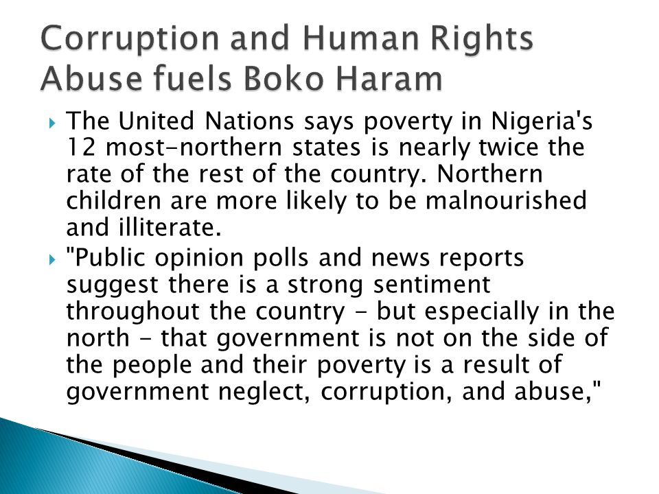 Corruption and Human Rights Abuse fuels Boko Haram