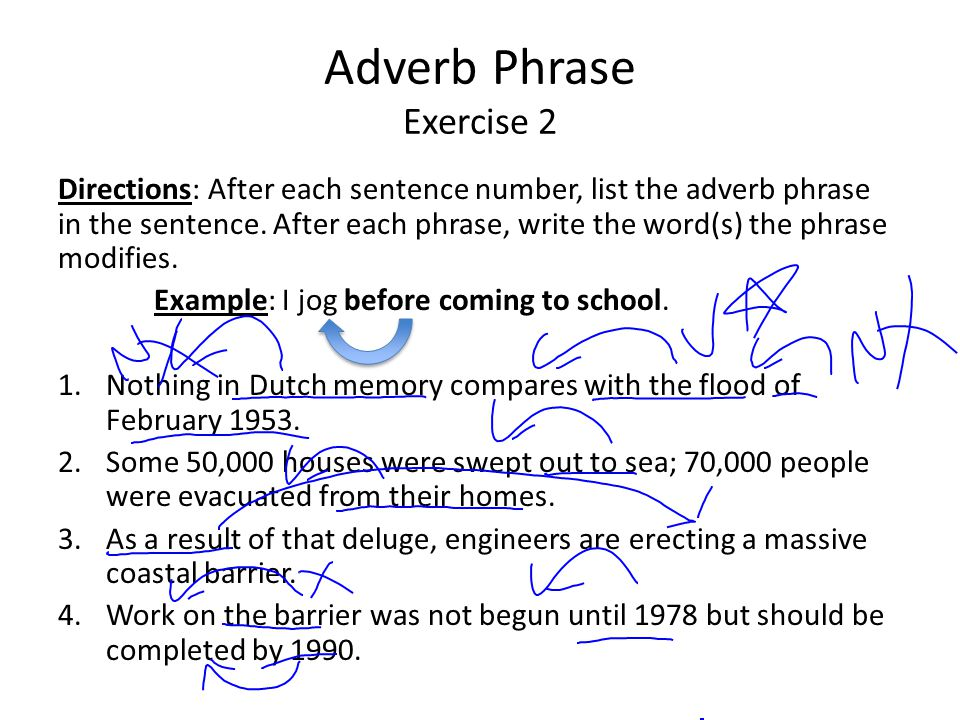 Adverb Phrase Exercise 2