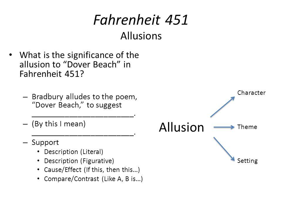 Fahrenheit 451 Allusions Allusion