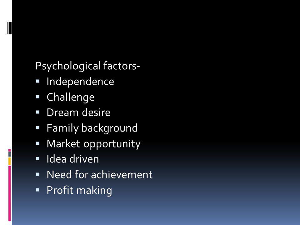 Psychological factors-