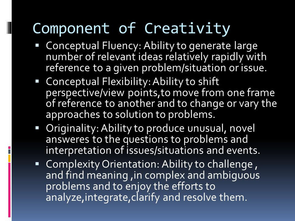 Component of Creativity