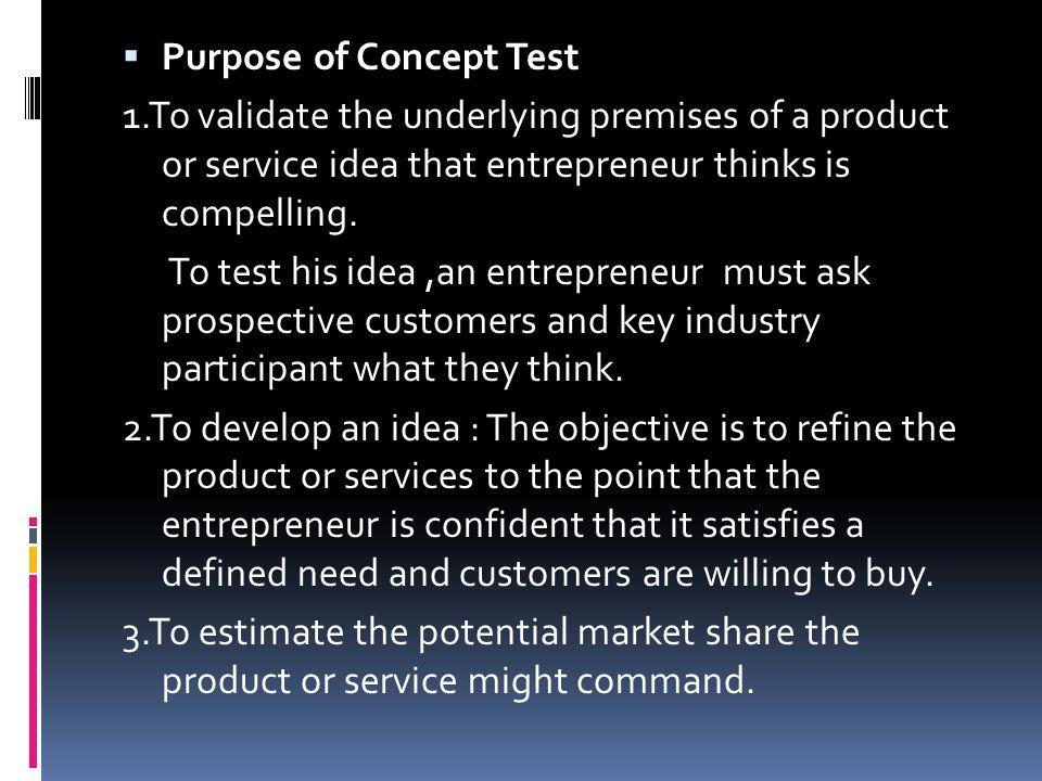 Purpose of Concept Test