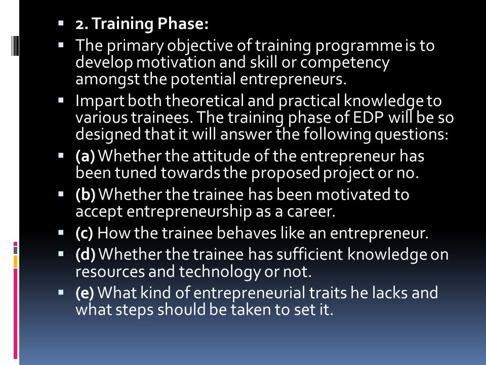 2. Training Phase: