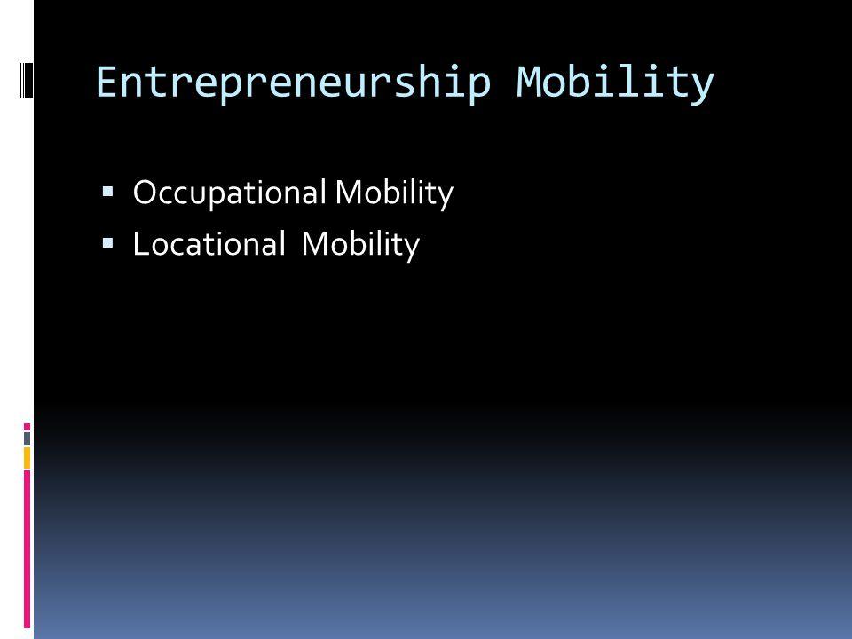 Entrepreneurship Mobility