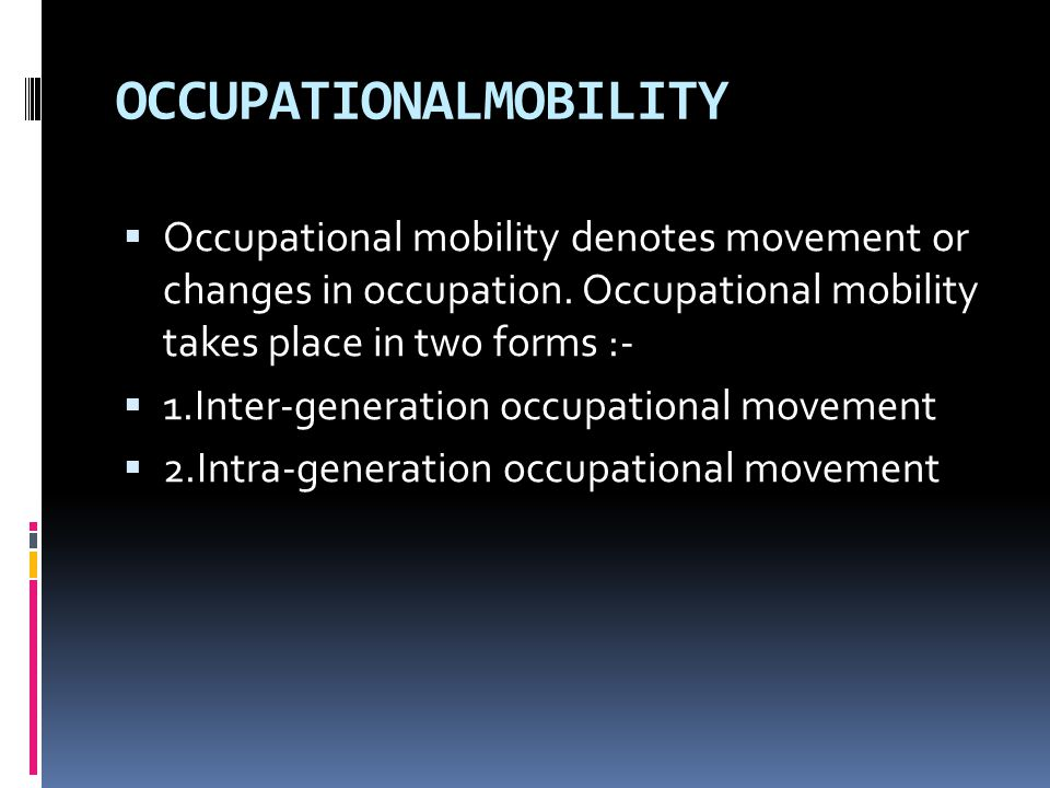 OCCUPATIONALMOBILITY