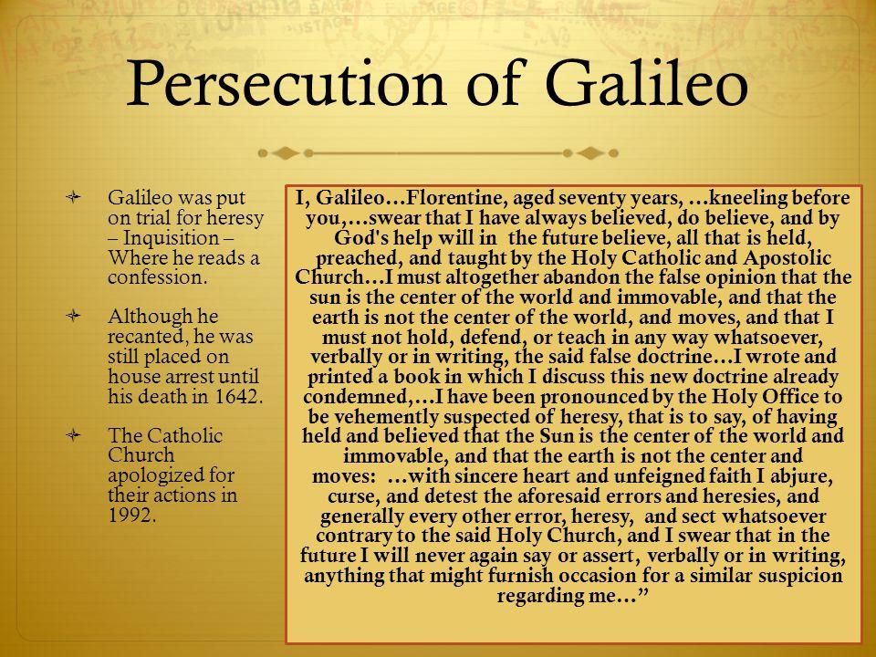 Persecution of Galileo