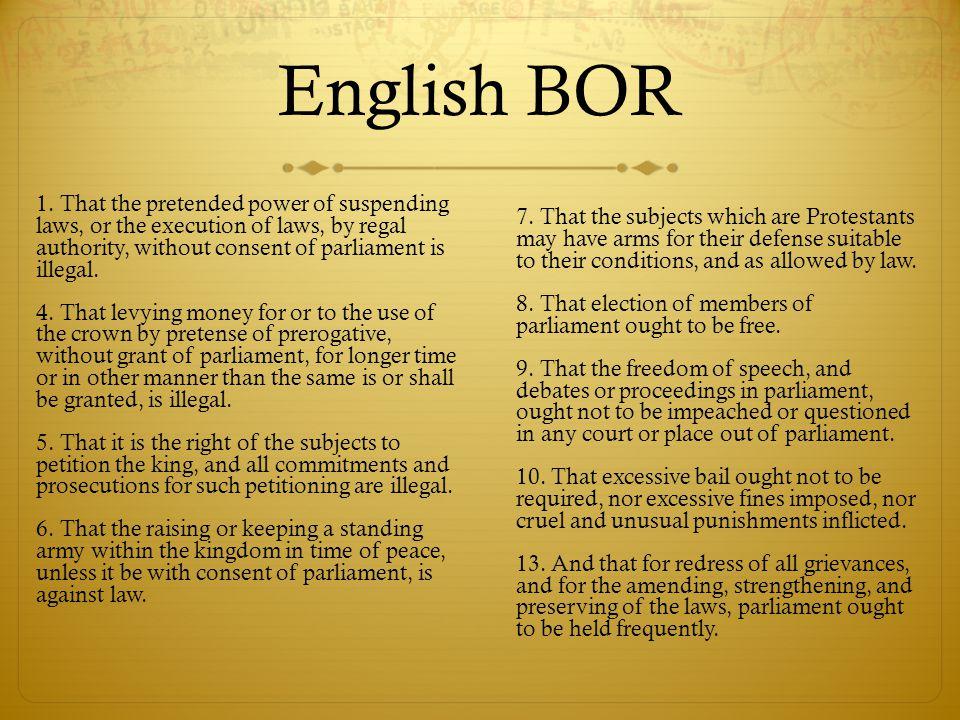 English BOR