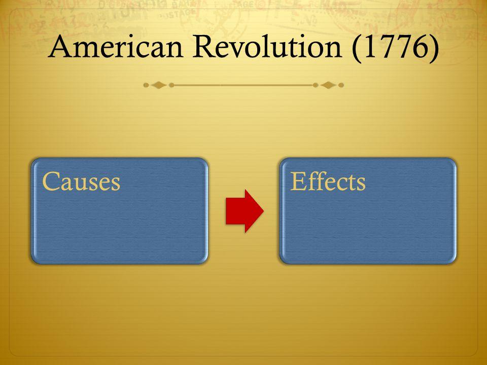 American Revolution (1776)