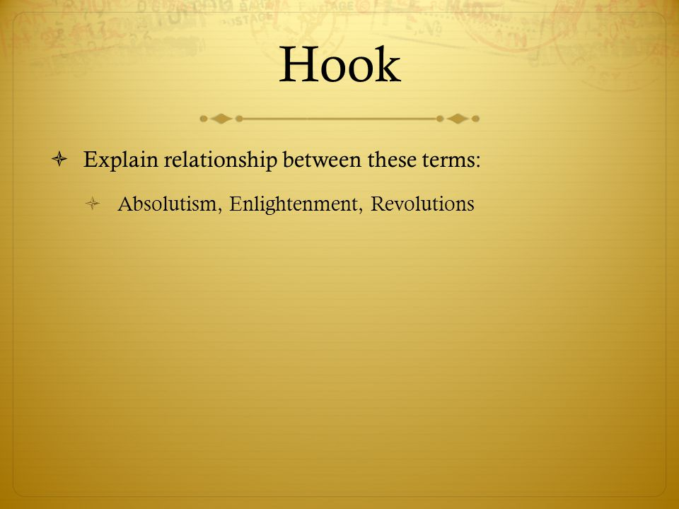Hook Explain relationship between these terms: