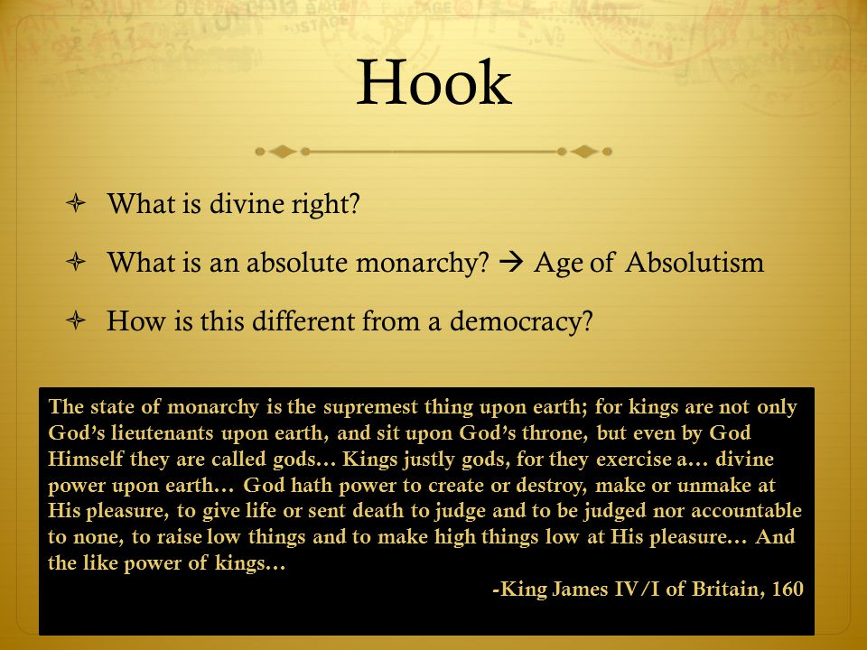 Hook What is divine right